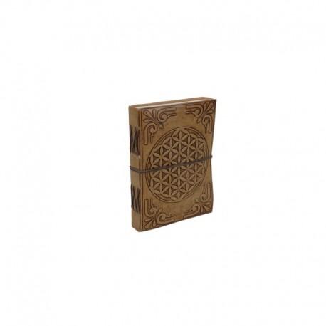 Libreta artesanal 13 x 9 cm cuero repujado