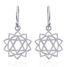 Pendientes de plata chakra corazón