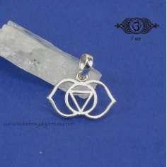 Colgante de plata Chakra Tercer Ojo 18 mm
