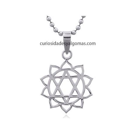 Colgante de plata chakra Corazón