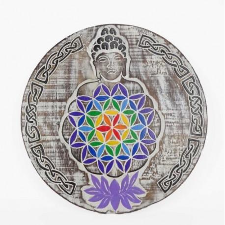 Tabla Flor de la Vida Buda