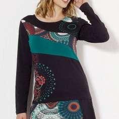 Camiseta mandala manga larga invierno