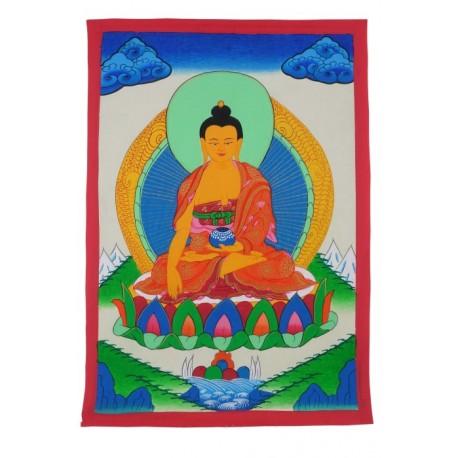 Thangka pintado a mano con Buda