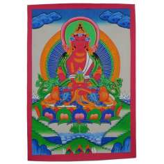 Pintura Thangka Buda Amitayus