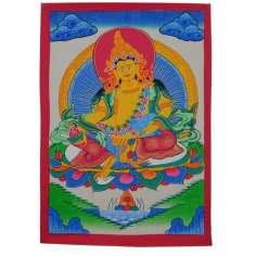 Pintura Thangka buda Zambala