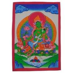 Pintura Tangkha Tara Verde