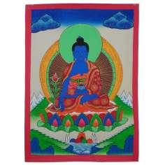 Pintura Thangka Buda Azul