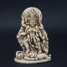 Figura de Kali bailando sobre Shiva 11cm