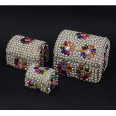 Cajas Indias tipo Baul en tres tamaños