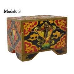 Caja de Madera Tibetana 14,5 x 11 x 10 cm