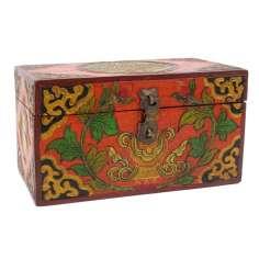 Caja de Madera tibetana 20 x 11 x 11,5 cm
