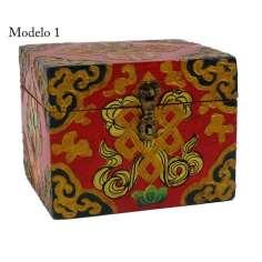 Cajas de Madera Tibetana 12 x10x10 cm