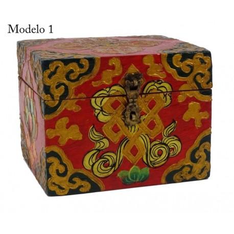 Cajas de Madera con símbolos Budistas