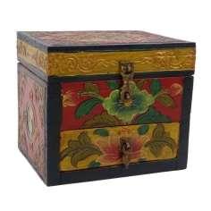 Caja tibetana dos compartimientos 14x11x12 cm