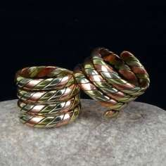 Anillo tres metales alpaca, cobre y bronce