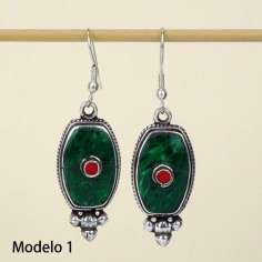 Pendientes estilo tibetano