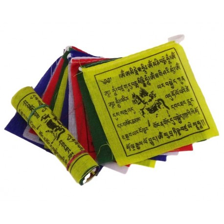 Mini Bandera Tibetana 7,5 x 7,5 cm