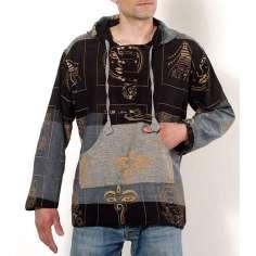 Camisa Hippie con Capucha Unisex