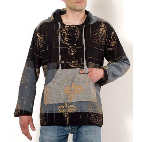 Camisa Hippie con Capucha Hombre