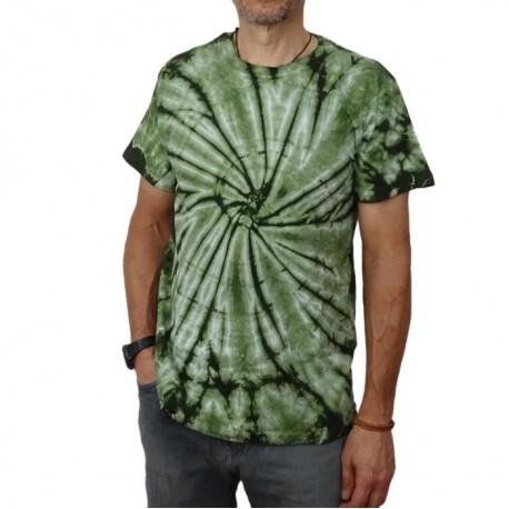 Camisetas Hippies Tye and Dye verde