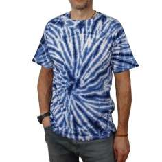 Camisetas Hippie Tye and Dye azul Unisex