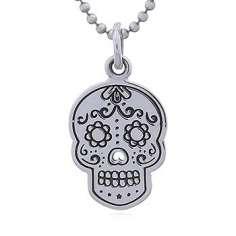 Colgante Calavera Mexicana de plata