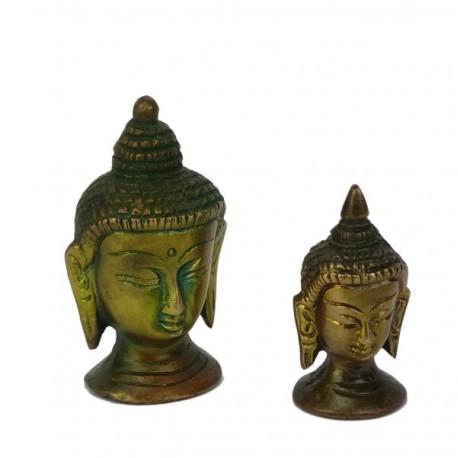 Mini Cabezas de Buda de Bronce