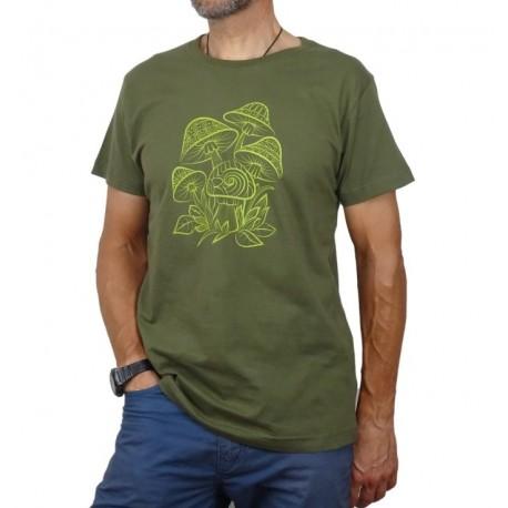 Camiseta Setas verde militar