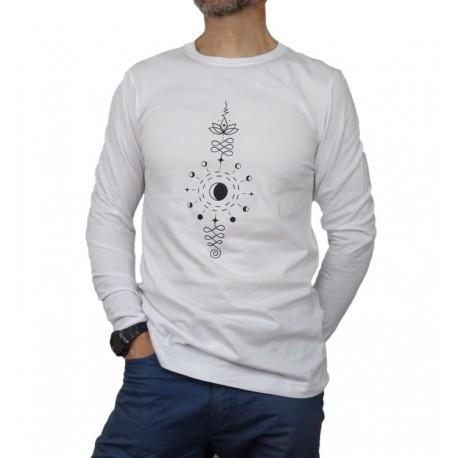 Camiseta manga larga Unalome Fases Lunates Unisex