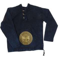 Camisa con capucha Unisex Azul lavado