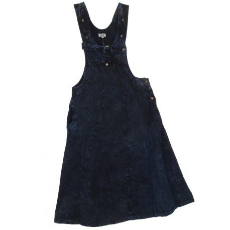 Peto Vestido estilo hippie Azul lavado