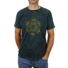 Camiseta Metatron Unisex verde lavado