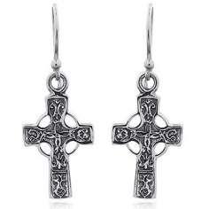 Pendientes de plata Cruz Celta