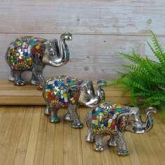 Set de tres Elefantes Hindues