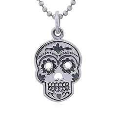 Colgante de plata Calavera Mexicana/sugar skull