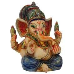 Figuras de Ganesh 8,5 cm pintadas a mano
