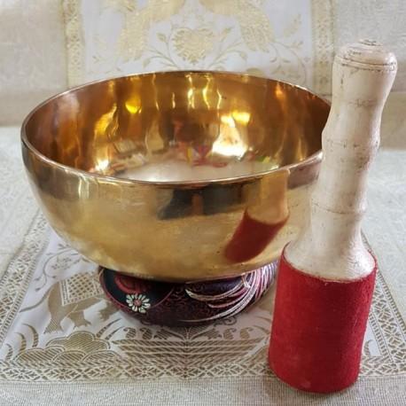 Cuenco Tibetano de siete metales martillado 955 gr-19 cm Ø