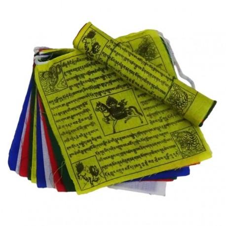 Banderas Tibetana de oración 12,5 x 12,5 cm