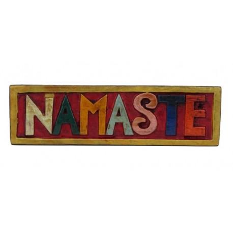Tabla de madera Namaste 15 x 7 cm
