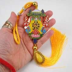 Colgante Amuleto Budista Ashtamangala