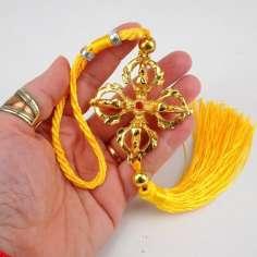Colgante amuleto Tibetano doble Dorje