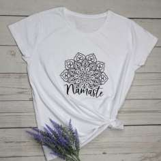 Camiseta mandala Namaste manga corta