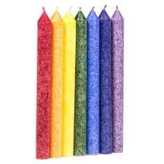 Set de 7 velas de los Chakras perfumadas 21 cm, comercio justo
