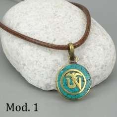 Mini colgante Tibetano con el Mantra OM