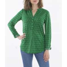 Camisa manga larga verde...