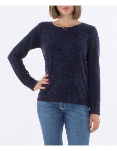 Jersey manga larga azul marino otoño-invierno
