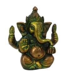 Figura de Lord Ganesha 8 cm  - en bronce, hecha en India