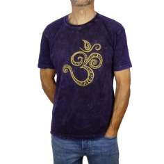 Camiseta Mantra OM violeta lavado-Unisex-