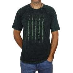 Camiseta Sak Yant-manga corta verde lavado