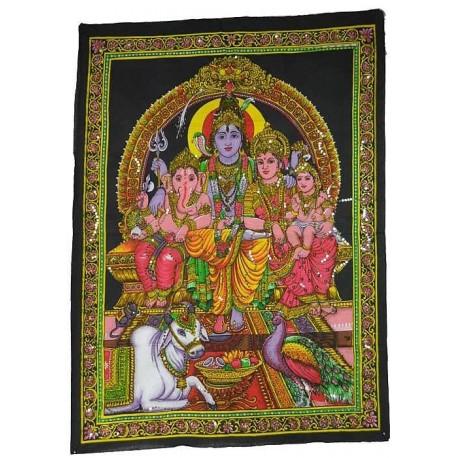 Tapiz Shiva y Familia